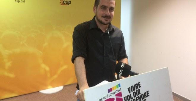 El portavoz del Secretariat Nacional de la CUP, Quim Arrufat./EUROPA PRESS