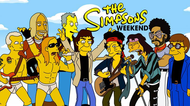 Los Simpson Y El Rock Combinación Explosiva Muzikalia