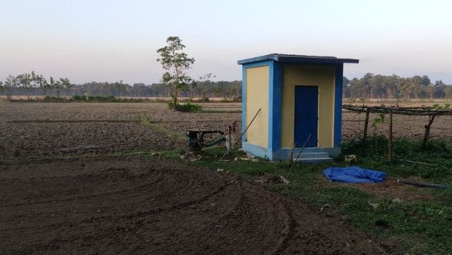 Pump house installed at Uttar Chakaokheti [image by: Gurvinder Singh]
