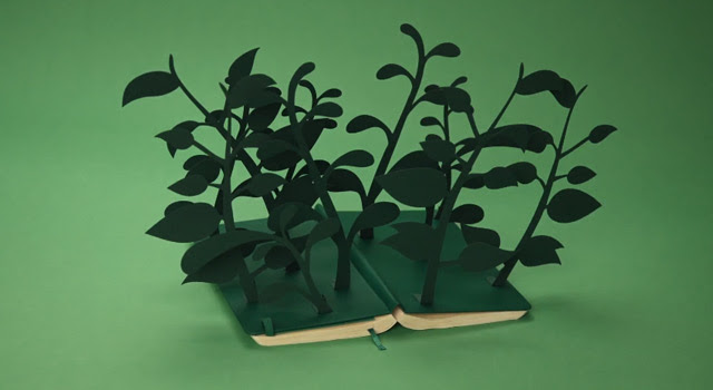 A New Stop Motion Short Made Completely with Moleskine Notebooks by Rogier Wieland stop motion paper books animation advertising