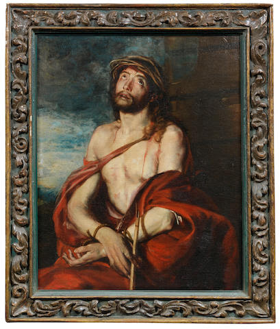 School of  Madrid, 17th Century Ecce Homo