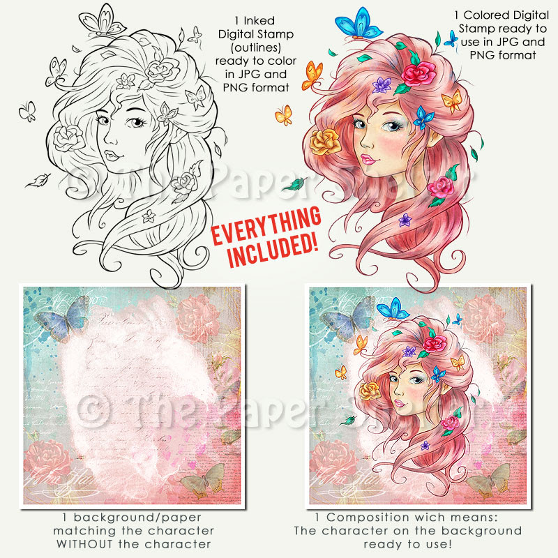 Rose - Digital Stamp