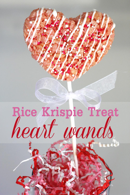 {DIY} How to Make Rice Krispie Treat Heart Wands | Catch ...