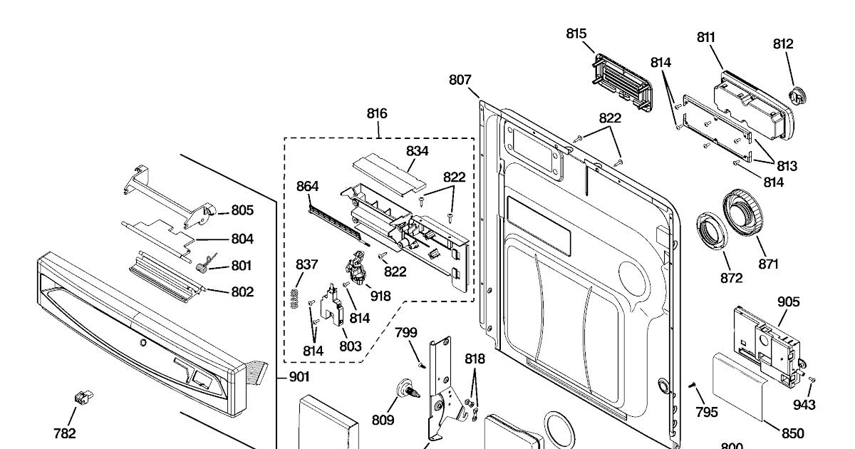Wiring Diagram: 28 Ge Dishwasher Diagram Of Parts