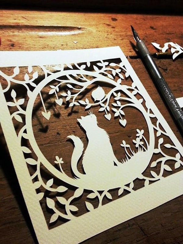 Extremely Creative Examples of Kirigami Art A Hobby to Addapt (28)