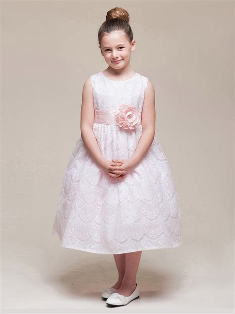 Pink Spanish Lace Dress w/ Sash & Rose