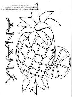 Dibujos Para Imprimir Y Colorear Gratis Para Niños Dibujo De Piña