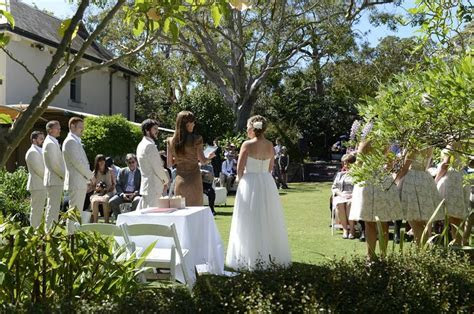 Jono and Katie's wedding ceremony at Lion Gate Lodge
