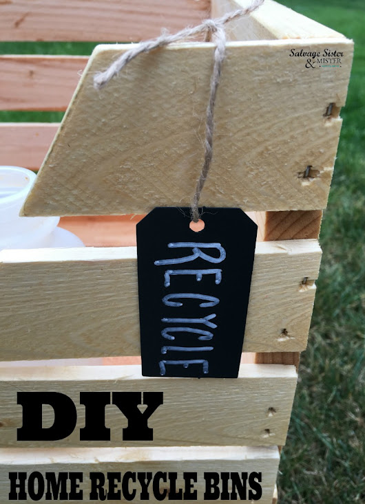 DIY Home Recycle Bins