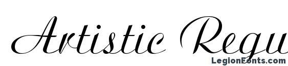 Artistic Regular Font Download Free Legionfonts