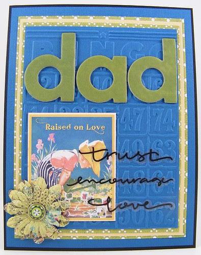 Raised On Love Dad Card