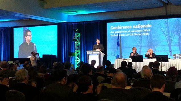 Discours d'ouverture du chef Pierre Karl Péladeau au Conseil national du Parti québécois à Trois-Rivières