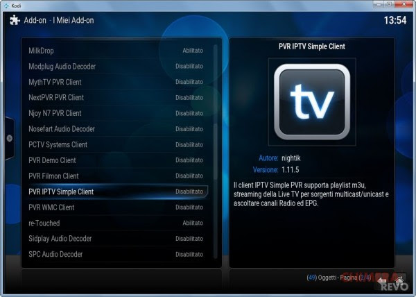 IPTV simple client kodi