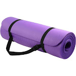 BalanceFrom GoYoga All-Purpose 1/2-Inch Extra Thick High Density Anti-Tear Exercise Yoga Mat with Carrying Strap, Purple