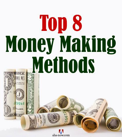 Top 8 Money Making Methods to Make That Extra Money | Aha!NOW