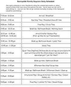 24 Hour Daycare Schedule http://www.24hourdaycarecentral.com/   24 ...