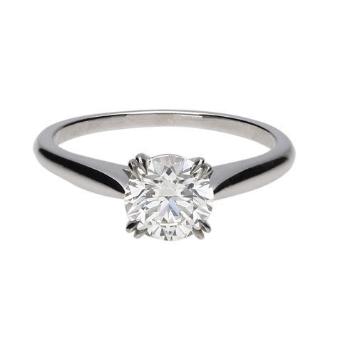 Harry Winston Solitaire Engagement Ring   GAGE Diamonds