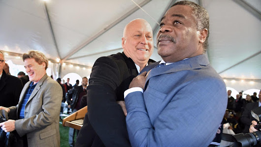 Cal and Eddie team up for unveiling of Ripken Foundation's Eddie Murray Field at BGE Park - Baltimore Sun