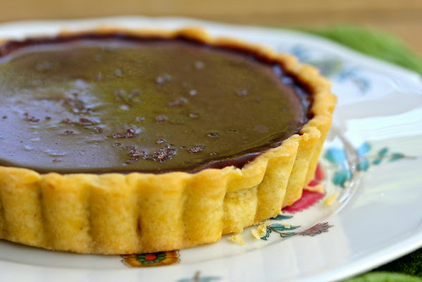 Salted Chocolate Caramel Tartlets from Karen's Kitchen Stories