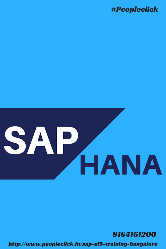 SAP HANA Career Opportunities and Why SAP HANA Training in Bangalore