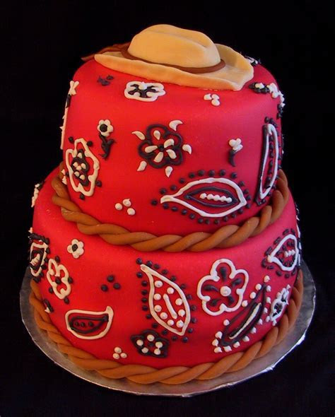 Red Bandana Western Birthday Cake Perryville KY   The