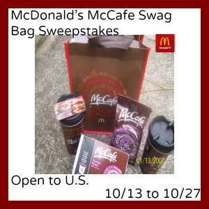 Enter the McDonald's McCafe Swag Bag Giveaway. Ends 10/27.