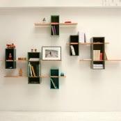 Snake-Shaped Colorful Versatile Shelf | DigsDigs