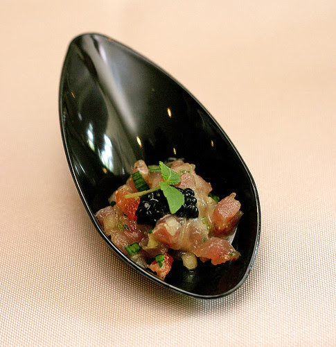 Canapes of Tuna with Avruga Roe - by Bistro Soori