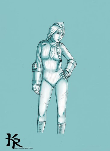 Cammy White aqua green study