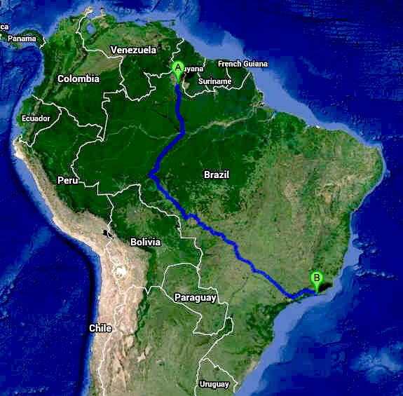 Image result for Brazil's export route to Atlantic images
