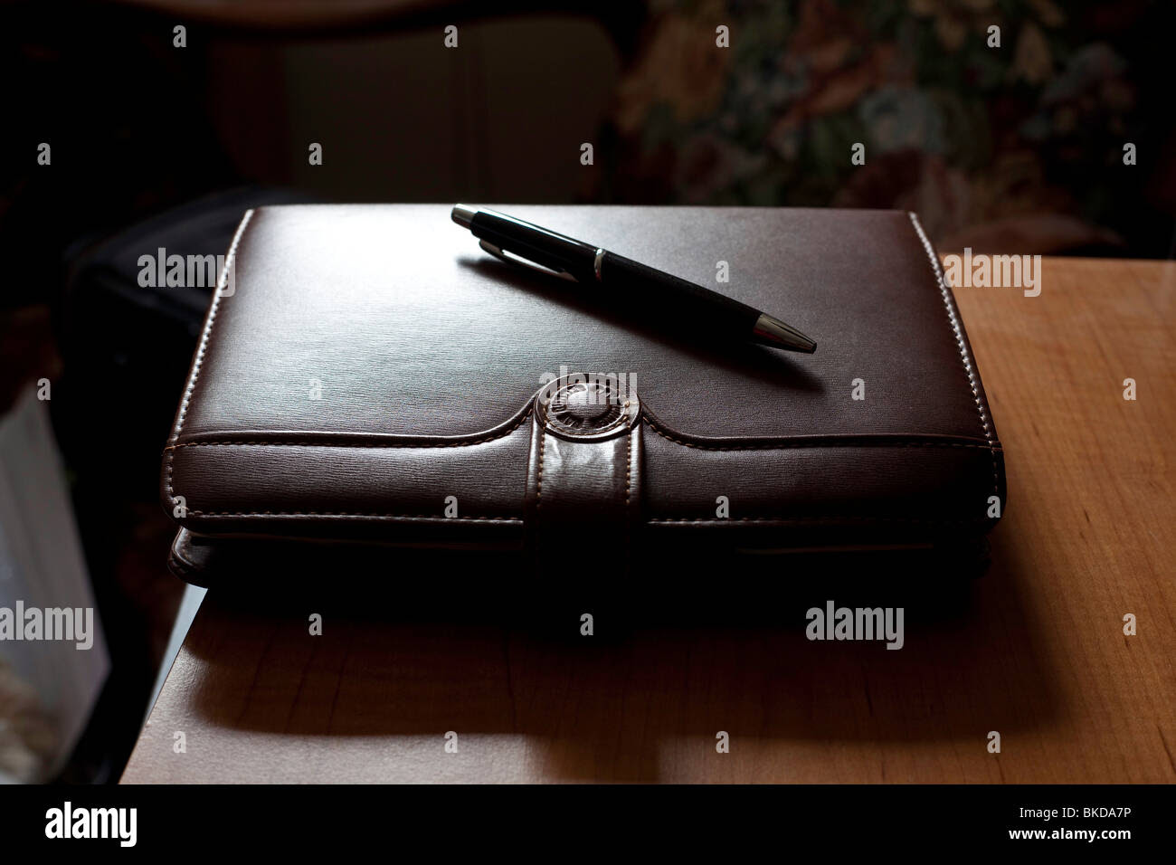 A Diary Address Book Day Planner Leather Bound With A Snap Closure ...