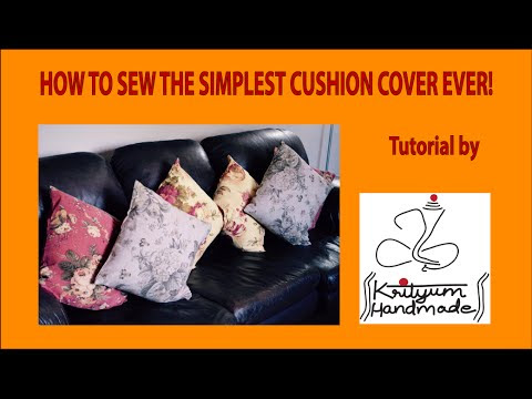 Sewing Tutorial - The simplest Cushion Cover Ever!
