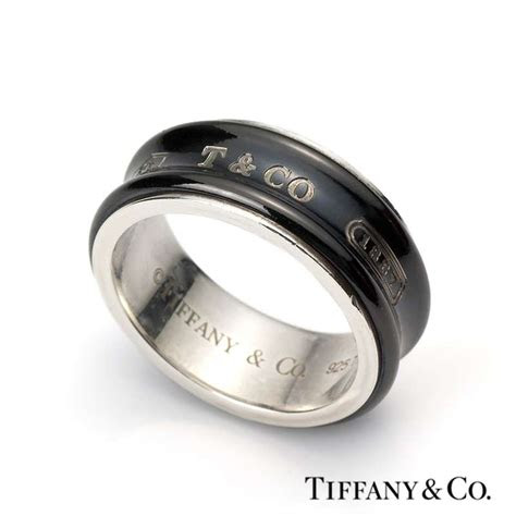 silver  midnight titanium tiffany   ring