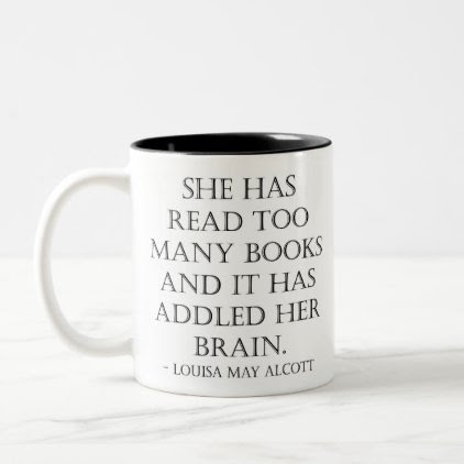 read too many books Two-Tone coffee mug