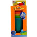 The First Years Take & Toss Sippy Cups, Assorted Colors, 10 oz, 4 Ct