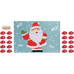 Pin The Nose on Santa Game - 2-Pack Christmas Party Fun Game Supplies, Holiday Festive Gifts Favors for Kids and Adults, Santa Claus Design, 2