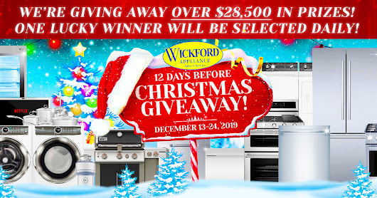 "Wickford Appliance ""12 Days Before Christmas"" Giveaway!"