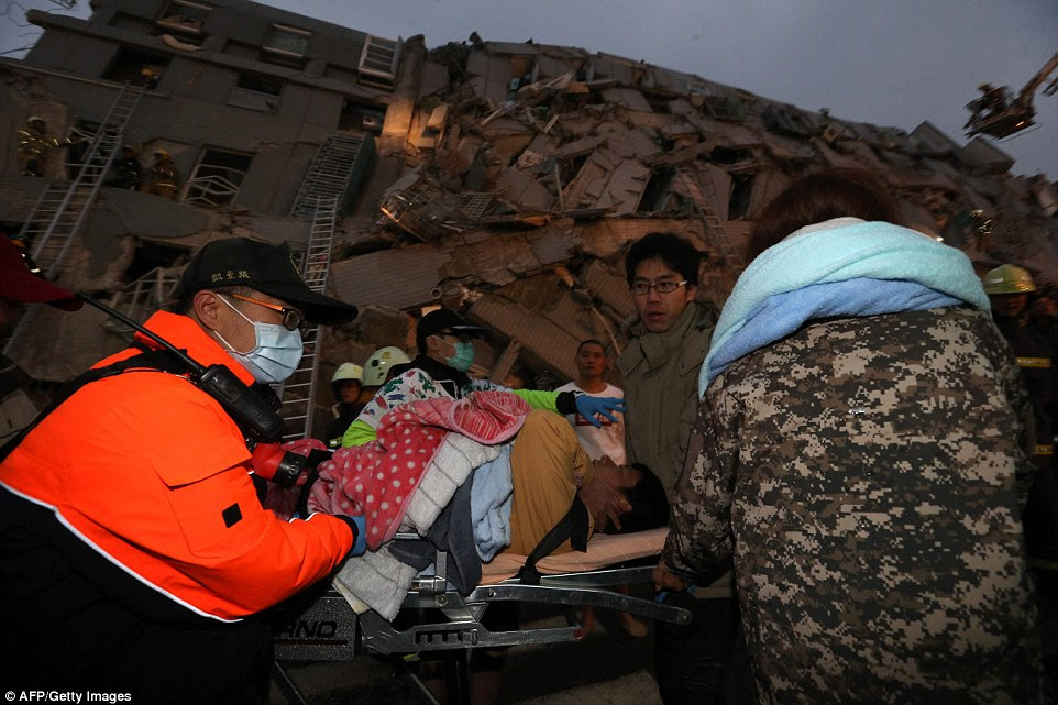 Some 221 people were rescued within four hours of the earthquake, 115 needing hospitalisation, and two in critical condition