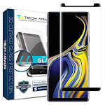 Tech Armor 3D Curved Ballistic Glass Screen Protector for Samsung Galaxy Note 9, Case-Friendly, Black, Size: One Size
