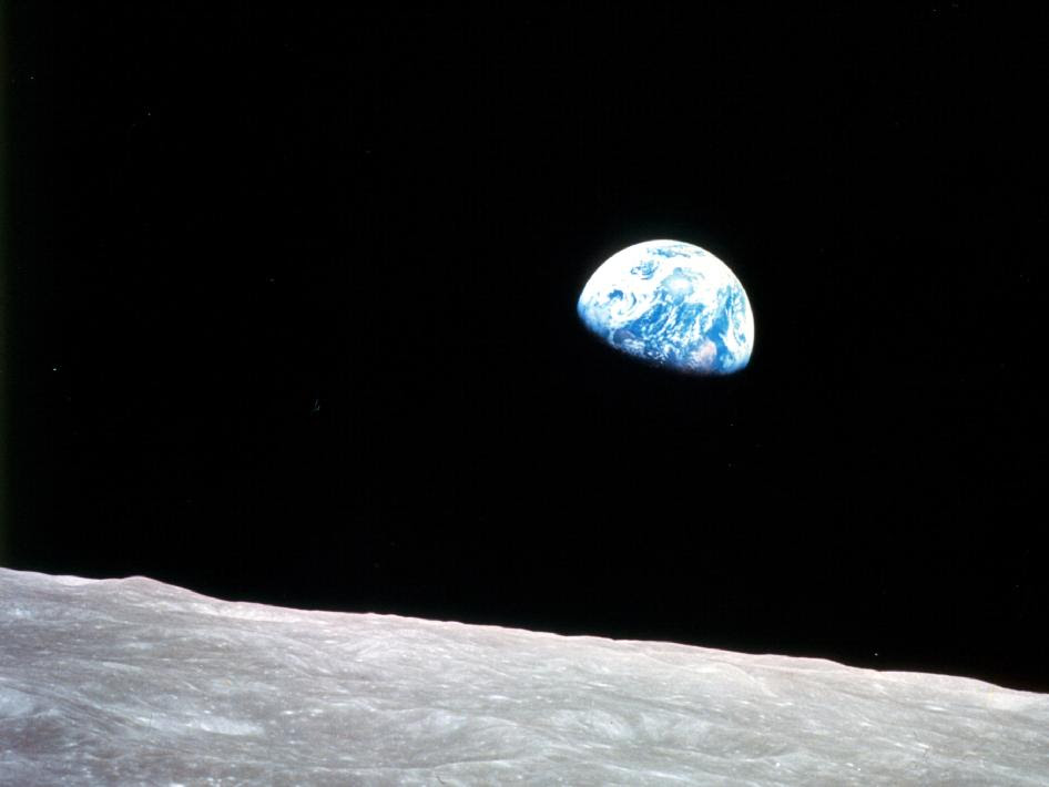 Earthrise as seen from Apollo 8