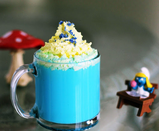 Vanilla Smurfette Blue Drink Recipe for Smurf Fans | A Magical Mess