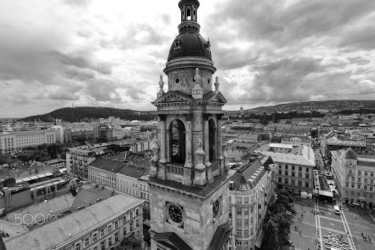 Budapest from the top of St Stephen Basilica