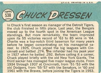Chuck Dressen (back) by you.