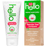 Hello Products - Children's Fluoride Free Toothpaste - Natural Watermelon (4.2 Ounces) - Toothpaste & Gel