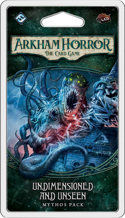 Arkham Horror The Card Game Undimensioned and Unseen mythos pack unboxing and review