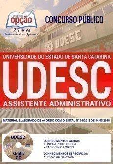 Apostila Concurso UDESC 2018 | ASSISTENTE ADMINISTRATIVO