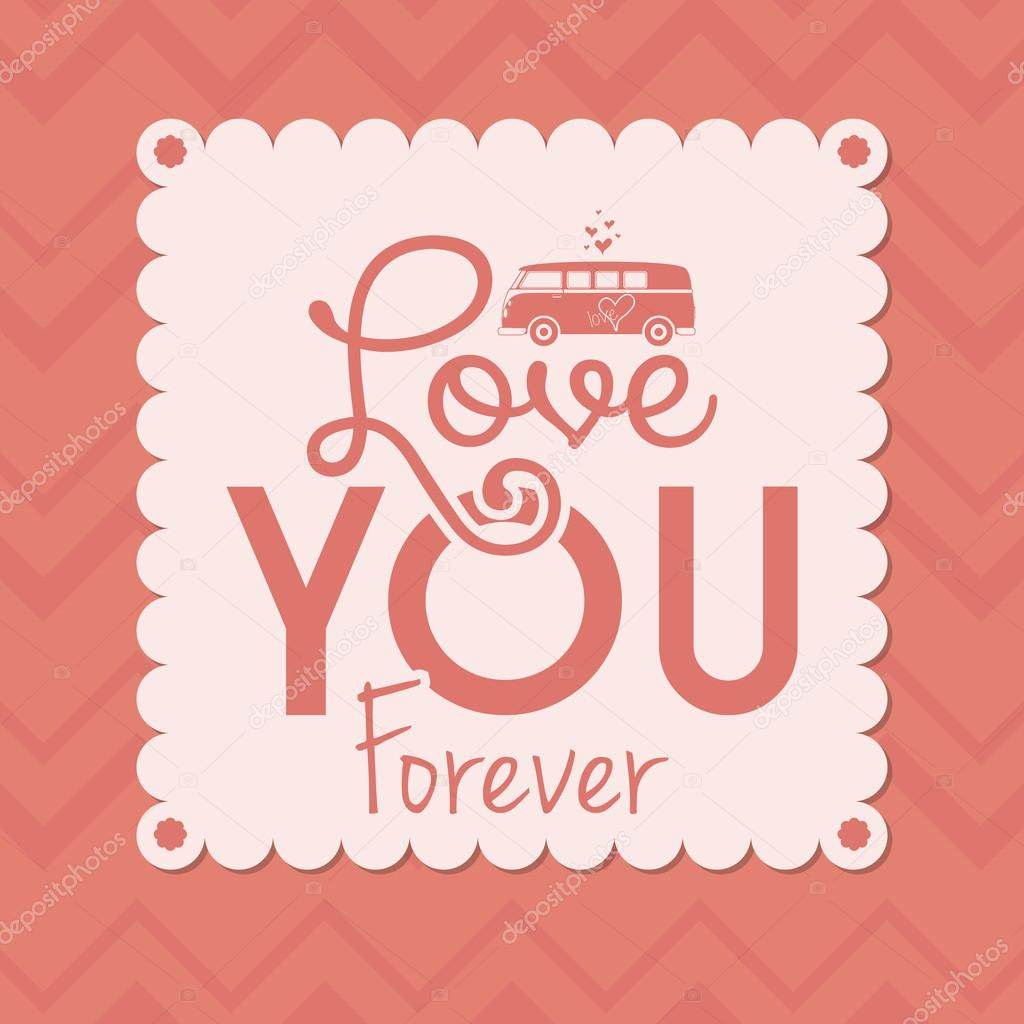 Cute Love Or Saint Valentine Card Template Editable — Stock Vector ...