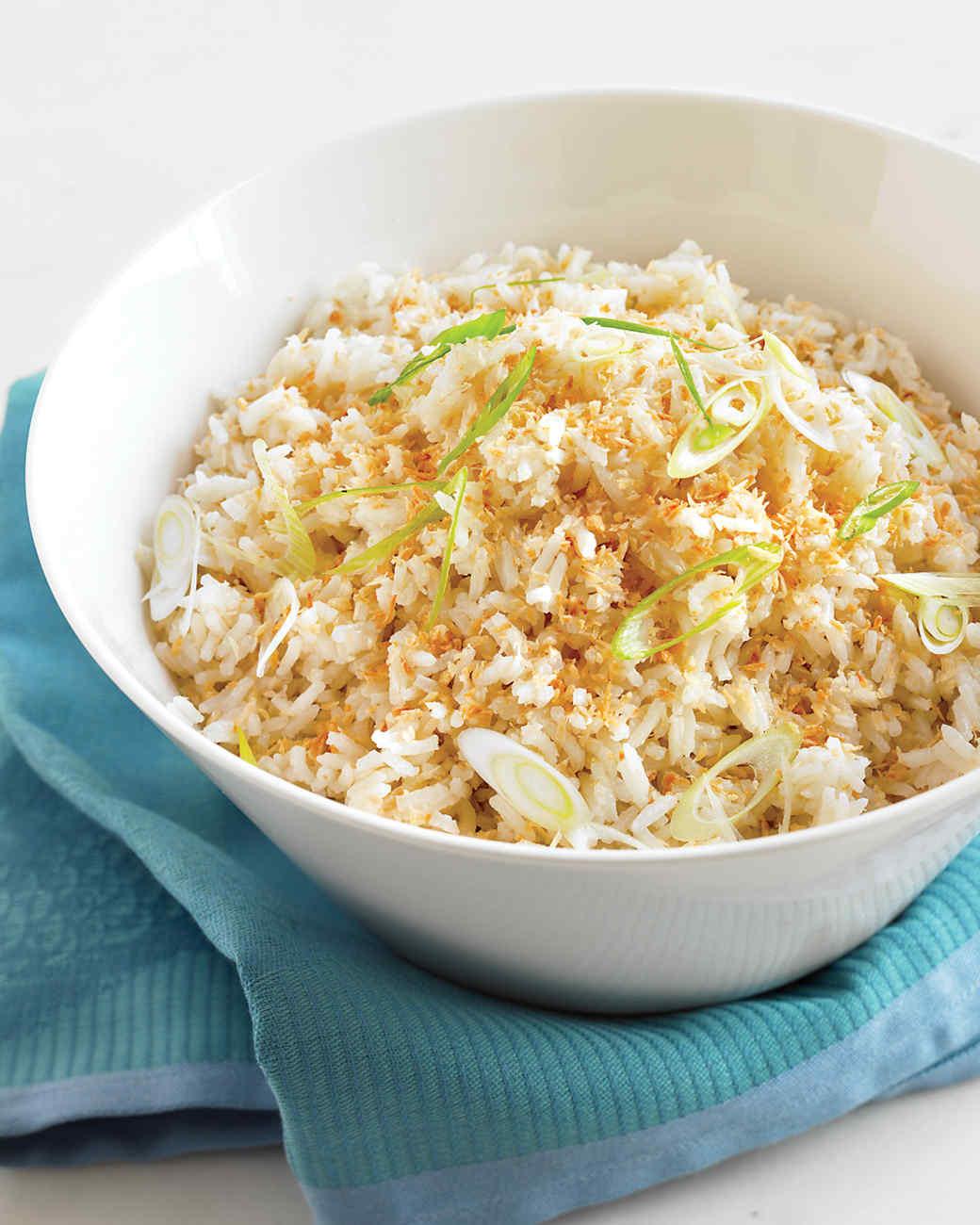 Toasted-Coconut Rice Recipe | Martha Stewart