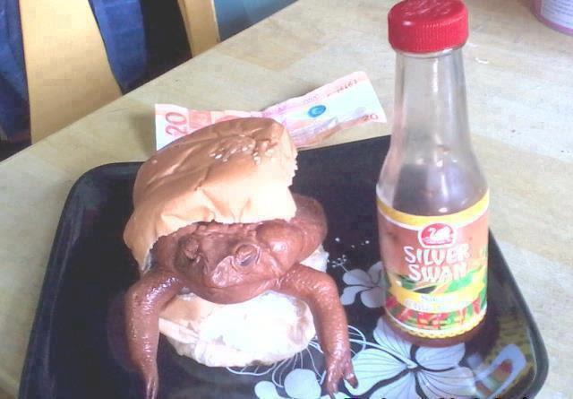 Nimatnya burger kodok !