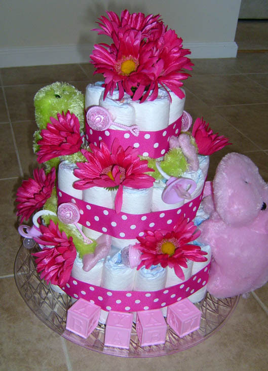 This Fun Diaper Cake Will Give You Some Great Ideas For Making Your Own